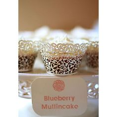Even a muffin looks better dressed in lace.