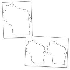 Printable Shape of Wisconsin - Printable Treats