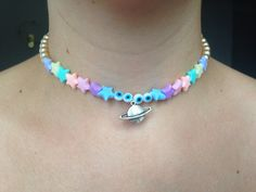 Pastel space girl choker by TrippyKittyCreations on Etsy