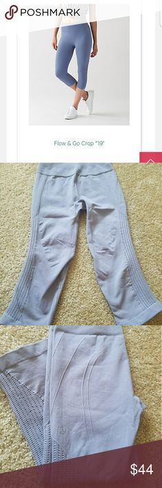 Lululemon flow and go size 4 Few times worn, hand wash only great condition. lululemon athletica Pants Ankle & Cropped