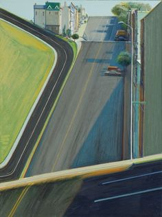 Wayne Thiebaud, Down Penn Street , 1978