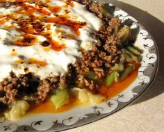 alinazik (Turkish) Egg plant & meat dish ( you can also make it with beef)