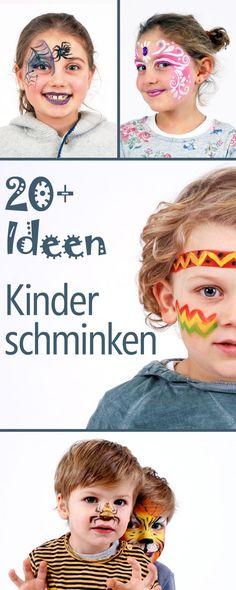 Kinderschminken - über 20 ausführliche How To's.