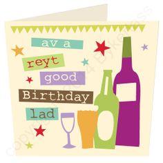 ey Up av A Right Good Birthday! Yorkshire Card By Jane