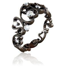 gorgeous black gold ring