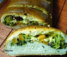 Limara péksége: Brokkolis-sajtos töltött kenyér Spanakopita, Quiche, Bacon, Bakery, Lime, Cooking, Breakfast, Ethnic Recipes, Pizza