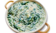 Nigel's classic creamed spinach. Photograph: Jonathan Lovekin for the Observer