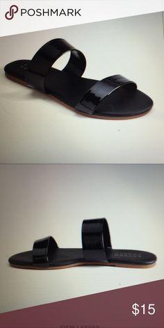 3eb06523abc731 Black strap flat sandals Adorable black strap sandals