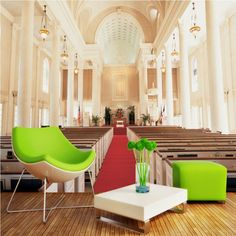European style church wall murals coffee house wallpaper mural 3D stereo bedroom living room lobby wallpaper