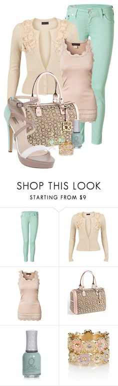 """""""Mint"""" by happygirljlc ❤ liked on Polyvore featuring True Religion, Vero Moda, Rosemunde, Calvin Klein, ORLY, Accessorize, RMK and Tacori"""