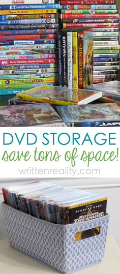 Best DVD Storage Solution : Tired of your large DVD collection taking up too much space? Here's the best way to store your DVDs that will fit in even the smallest of spaces. Easy DVD organization starts now. Housekeeping Tips to Keep Your Organized!