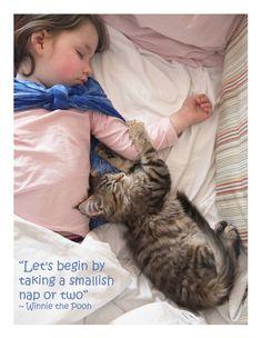 Sleep time for Iris Grace and Thula