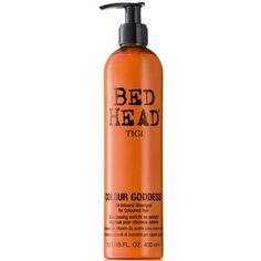 TIGI Bed Head Colour Goddess Shampoo (400ml) ($16) ❤ liked on Polyvore featuring beauty products, haircare, hair shampoo, fillers, hair, beauty, makeup, tigi, tigi haircare and tigi hair care