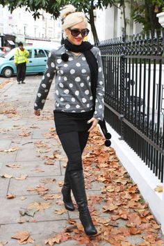 Gwen Stefani takes on polka dots when spotted near her London home #streetstyle