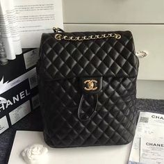 Chanel Urban Spirit Quilted Lambskin Large Backpack 170301