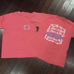 Big/Little Floral Sorority Comfort Colors Frocket Shirt
