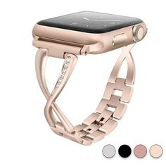 Bijoux – Tendance : Apple Watch Band strap, Crystal bling rhinestone bracelet, Stainless Steel for iwatch Series 1 2 3 4 Apple Watch Silver Band, Rose Gold Apple Watch, Apple Watch Sizes, Best Apple Watch, Apple Straps, Apple Watch Bands Fashion, Apple Watch Wristbands, Bling, Crystal Bracelets