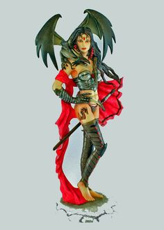 GUARDIAN Dragon Witch Warrior  Nene Thomas Fairy Site Collectible NT164 Retired