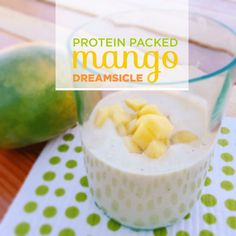 This mango dreamsicle is packed with Bob's Red Mill Soy Protein for added nutrition. | BriGeeski