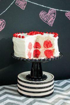 Valentines Day polka dot cake.