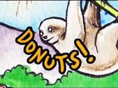 It's a Sloth Eating a Donut. -- time-lapsed art by marydoodles
