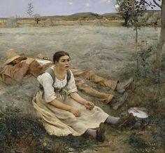 Jules Bastien Lepage Les Foins Hay Making 1877 Poster
