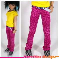 BJD Doll Clothing  Hot Pink Leopard Girly by StarrshineDesigns, $16.00