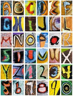 Butterfly alphabet by Kjell Sandved. After searching for over 24 years, he found all 26 letters of the alphabet and the numerals 0 to 9 in the patterns on the wings of butterflies.