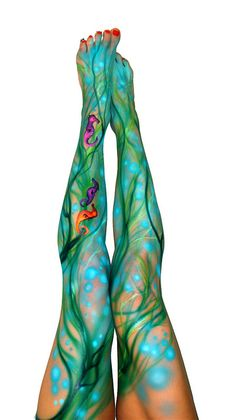body paint- great idea for a belly. Love this for fairy/mermaid theme.