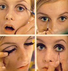 Twiggy Makeup via @Elizabeth Le Coney