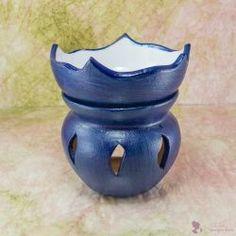 """""""TAVIRÓZSA"""" aromalámpa * kerámia - tengerészkék Decorative Bowls, Vase, Vases, Jars"""
