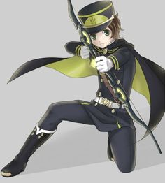 Yoichi Saotome  is a member of the Japanese Imperial Demon Army and Shinoa Hīragi's squad in the Moon Demon Company.