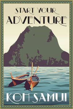 Vector-Based Travel & Event Poster Series: Thailand on Behance