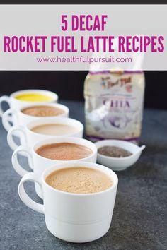 5 Decaf Fatty Coffee Recipes #keto #lowcarb #highfat #theketodiet #bulletproof #rocketfuellatte