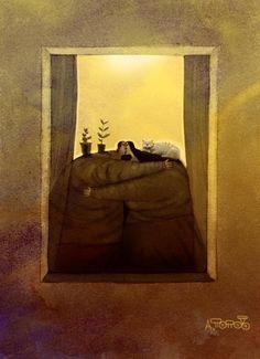 Хотим порадовать вас работами тонкого и ироничного художника-карикатуриста Андрея Попова из Санкт-Петербурга. В незамысловатых, на первый взгляд, иллюстрациях, скрыта бездна...