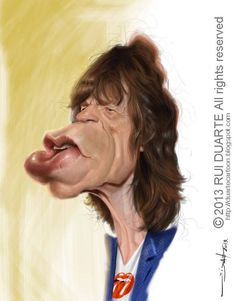 Mick Jagger por Rui Duarte
