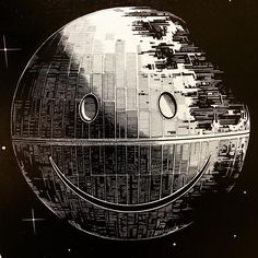 Bob here. Taking slightly less time to make than the actual #deathstar I present the London Police version there of. This smiling space station would have no doubt infuriated Darth Vader but would have surely restored balance to the galaxy #whatever