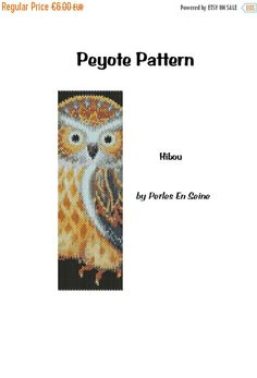 On Sale Owl Peyote Pattern Even Count Peyote by PerlesEnSeine