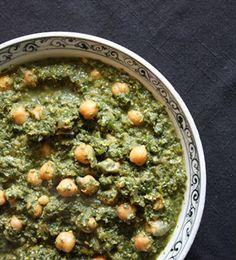Curried Greens and Garbanzos | fullandcontent.com