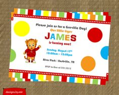 Printable Daniel Tiger Birthday Invitation - Daniel Tiger's Neighborhood Birthday Party Invitation - Kids Birthday Invites