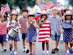 Children celebrating Independence Day