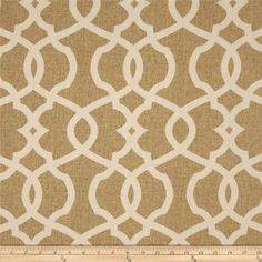 Emory Wheat cotton fabric by the yard lattice by MaterialMadness