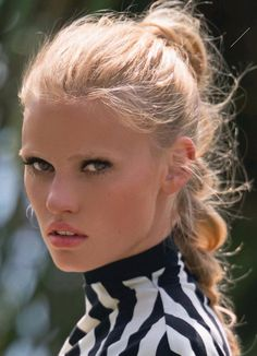 """Lara Stone in """"Sexy Soft"""" byHans FeurerforELLE France,June 2014 See more from this sethere."""