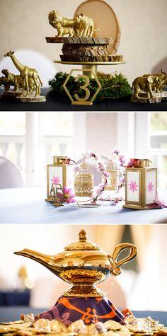 A Disney Inspired Wedding at Castle Avalon Unique Weddings, Fairytale Weddings, Rustic Weddings, Disney Princess Weddings, Disney Princess Decorations, Aladdin Wedding, Intimate Weddings, Disney Wedding Centerpieces, Disney Inspired Wedding
