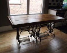 Popular items for rustic dining table on Etsy...***LOVE the base on this table