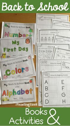 Back to School Books and Activities - perfect for Pre-K or Kindergarten classes!