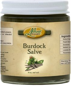 Burdock Green All Purpose Skin Salve USA Organic Certified FDA Registered Facility Handcrafted Tinctured Herbs Botanical Salve by NaturalHopeHerbals on Etsy