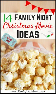 14 Family Night Christmas Movie Ideas.  If you are looking to create some quality time and memories with your kids this holiday season, check out these 14 Family night move ideas!
