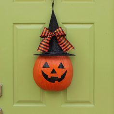 Fall Wreath  Halloween Wreath   Pumpkin by EverBloomingOriginal