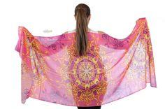 Arabesque central medallion pashmina cashmere shawl designed exclusively by Nivine Maktabi for Oumnia concept store beirut lebanon